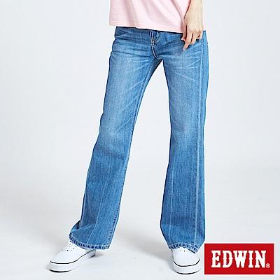 EDWIN 503基本五袋靴型褲-女-漂淺藍