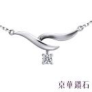 京華鑽石 鑽石項鍊 18K白 Delphin德爾芬 0.06克拉