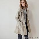 GIORDANO 女裝長版連帽防風外套 - 91 土杏色
