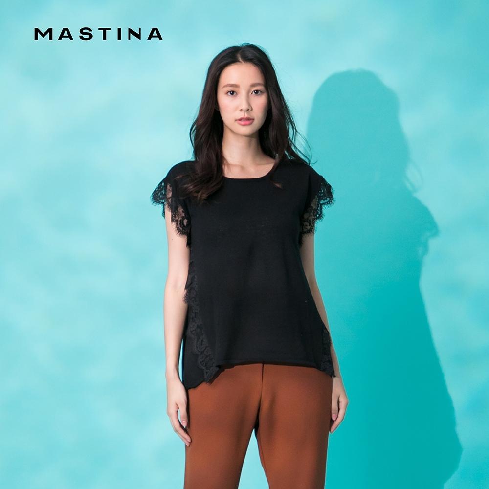 【MASTINA】蕾絲拼接設計-針織衫(二色)