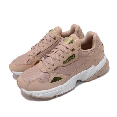 adidas 休閒鞋 Falcon 老爹鞋 厚底 女鞋 愛迪達 三葉草 金標 流行款 穿搭 粉 金 EF4989