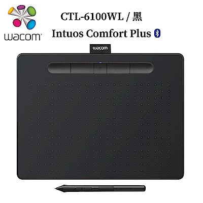 Wacom Intuos Comfort Plus Medium 繪圖板 (藍芽版)-黑