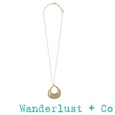 Wanderlust+Co水波項鍊 - 金色