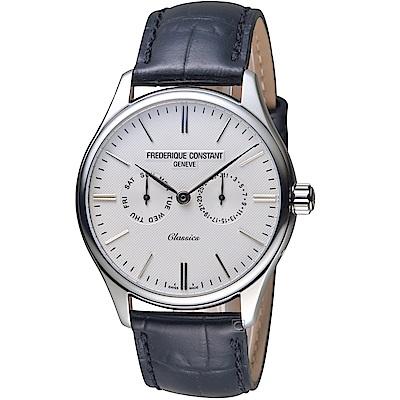 康斯登CONSTANT經典日期紳士腕錶(FC-259ST5B6)-白
