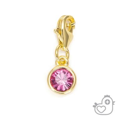 【彩糖鑽工坊】彩糖貝貝 玫瑰粉紅色水晶墜子 親子 閨蜜 繽紛寶石系列