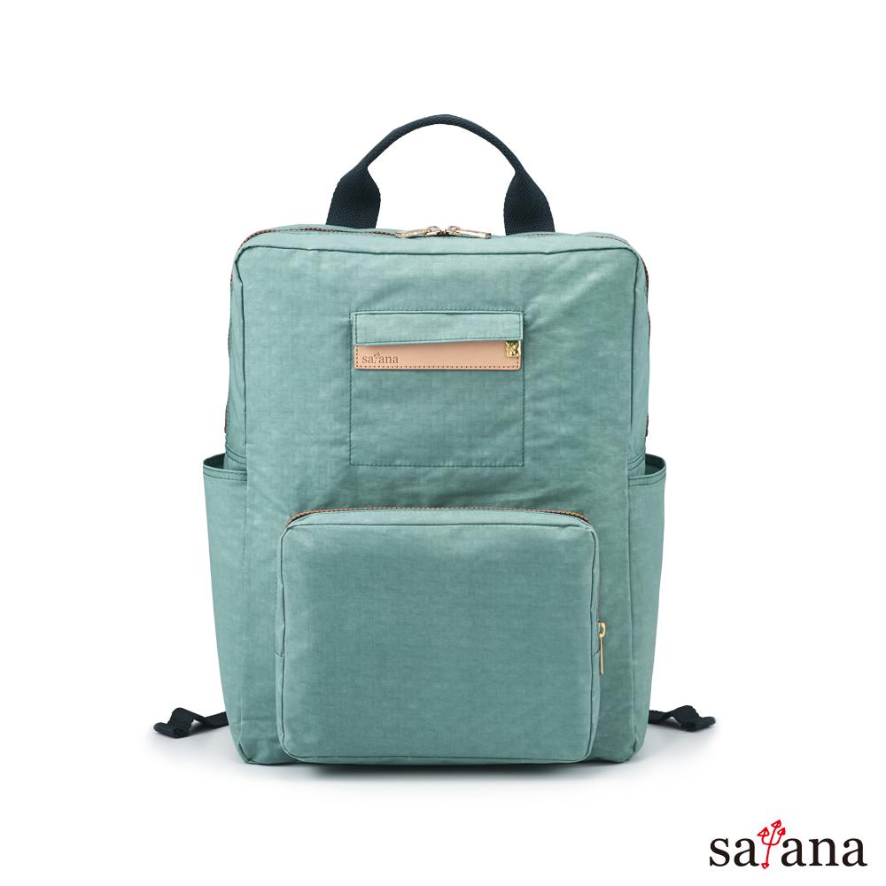 satana - Soldier 極簡折疊後背包 - 礦石藍