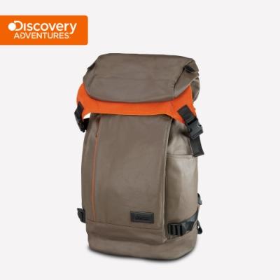 【Discovery Adventures】City上蓋式後背包-卡其色