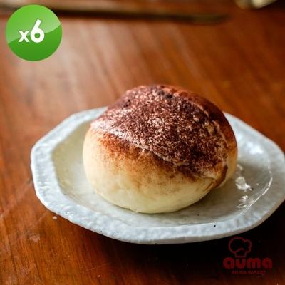 奧瑪烘焙 羅馬生乳包提拉米蘇X6個(120g±4.5%/個)(1個/盒)