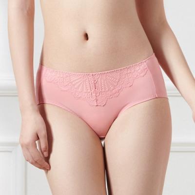 黛安芬-時尚嚴選中腰平口內褲 M-EL 溫柔粉