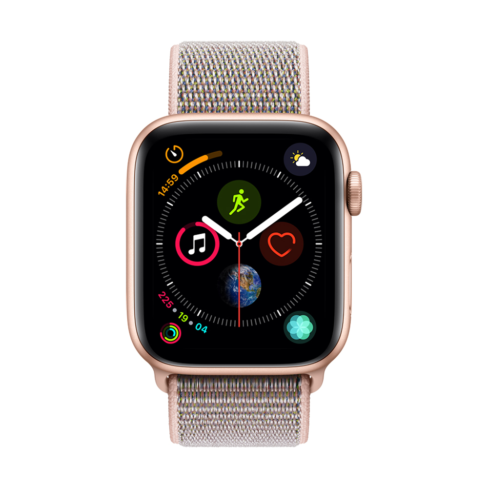 Apple Watch Series 4(GPS) 44mm金色鋁金屬錶殼+粉沙色錶環 @ Y!購物
