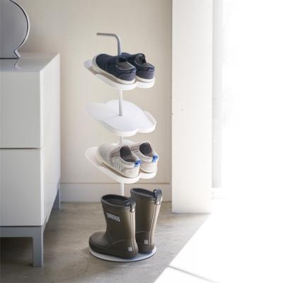 日本YAMAZAKI-tower兒童鞋架(白)★居家收納/拖鞋架