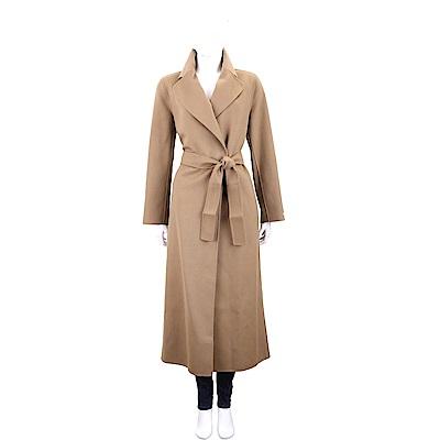 Max Mara-'S Max Mara 駝色繫帶切斯特純羊絨長版大衣