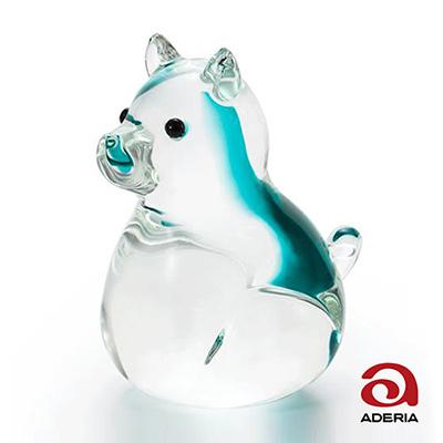 日本Aderia 手作玻璃幸運生肖擺飾-戌(狗)