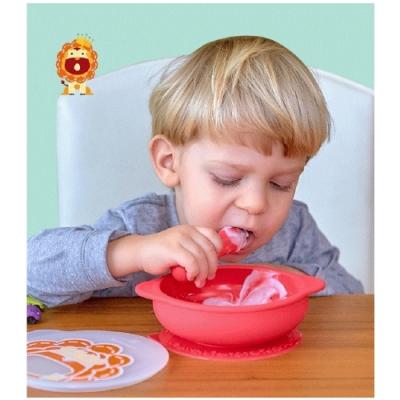 MARCUS&MARCUS 動物樂園幼兒自主學習吸盤碗(含蓋) 88468