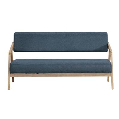 文創集 莫妮塔現代風棉麻布實木三人座沙發椅-159x77x81cm免組