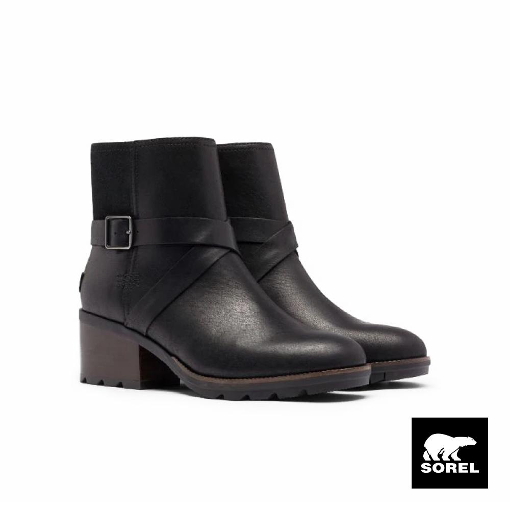 SOREL-CATE 女生扣環高跟靴-黑色