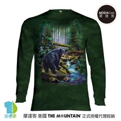 摩達客 美國進口The Mountain 黑熊之森 純棉長袖T恤