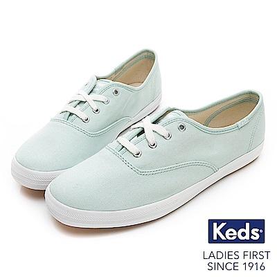 Keds CHAMPION 玩色經典綁帶休閒鞋-薄荷綠