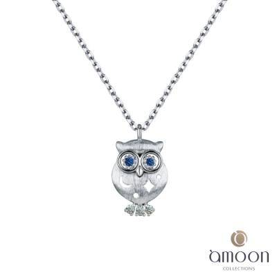 amoon 韓情脈脈系列 守護 K金鑽石項鍊