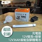 【組合】MPS1236攤販電池套組12V36Ah/露營.攤販.釣魚.鹹水雞攤.QQ球
