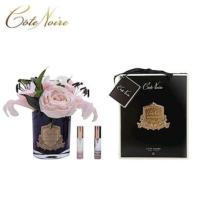 法國 CoteNoire 蔻特蘭 粉紅百合玫瑰香氛花黑瓶