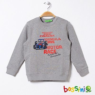 bossini男童-圖案圓領厚棉T恤03灰