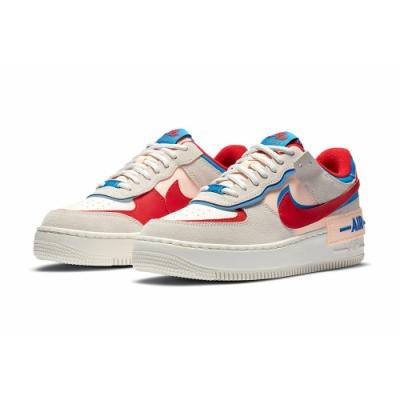 NIKE 休閒鞋 AF1 緩震 運動鞋 女鞋 白紅 CU8591100 AF1 SHADOW