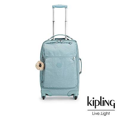 Kipling 時尚輕旅行李箱21吋 紋路質感淺藍-大