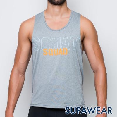 SUPAWEAR 健身同好-反光標識快乾透氣健身慢跑運動背心(淺灰色)