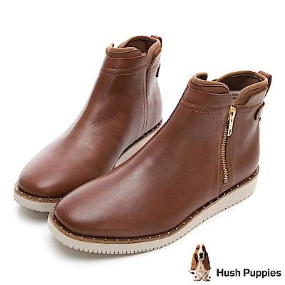 Hush Puppies CHOWCHOW冬感輕量短靴-棕色