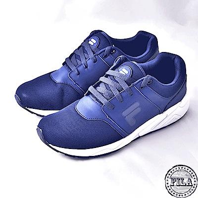 FILA男款輕量慢跑鞋~藍 1-J316S-331