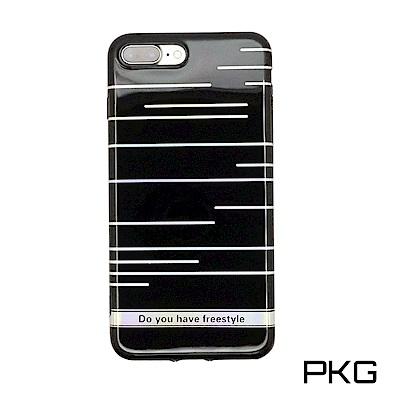 PKG Apple IPhone 7/8PLUS 保護殼(高質感雷射條紋)