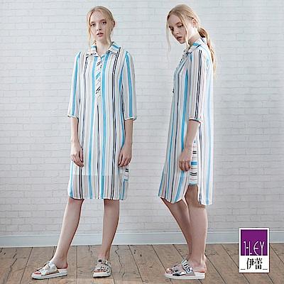 ILEY伊蕾 清爽活力兩件式洋裝(藍)