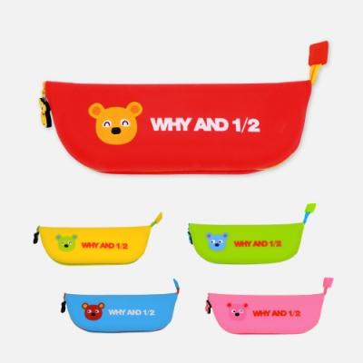 WHY AND 1/2 普普熊矽膠筆袋 多色可選