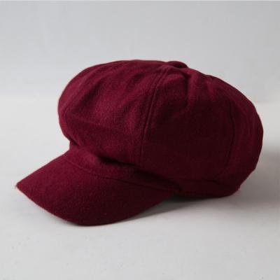 Redberry 秋冬CHIC畫家帽 歐風時尚 毛呢氈料 親膚透氣舒適 4色系