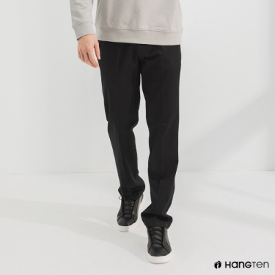Hang Ten-男裝-經典款-REGULAR FIT防皺褲-黑色