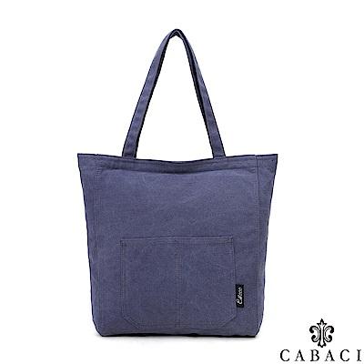 CABACI 韓版復古風格肩背/手提帆布包-共4色