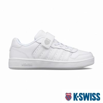 K-SWISS Court Palisades Strap時尚運動鞋-童-白