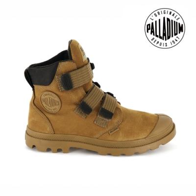 PALLADIUM PAMPA CUFF WP 黏扣皮革防水靴-男-琥珀棕