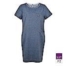 ILEY伊蕾 率性縷空緹花洋裝(藍)