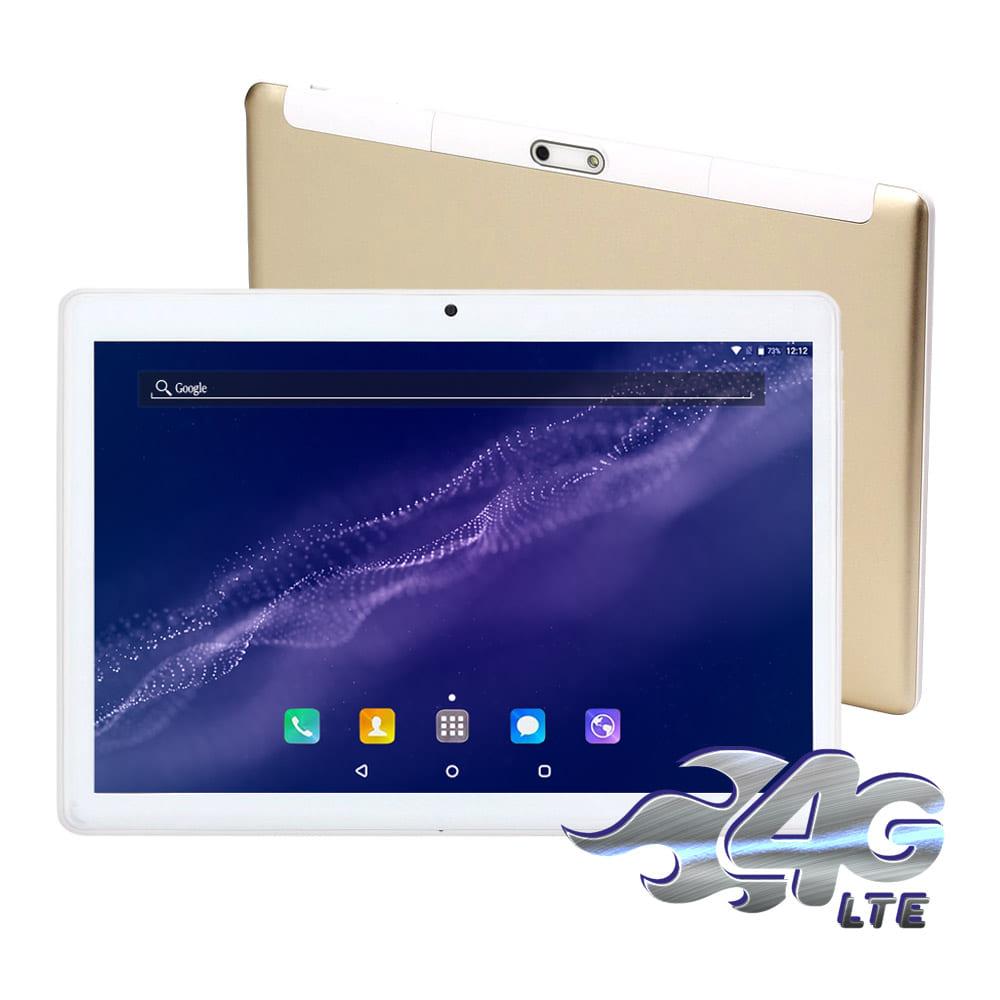 IS愛思 幻想無雙 香檳金 10.1吋四核心4G LTE通話平板電腦(4G/32G)