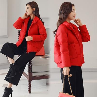 【韓國K.W.】簡單美學保暖羽絨外套-1色