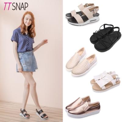 【時時樂限定】TTSNAP-氣墊涼鞋/輕量縫製休閒鞋系列(五款任選)