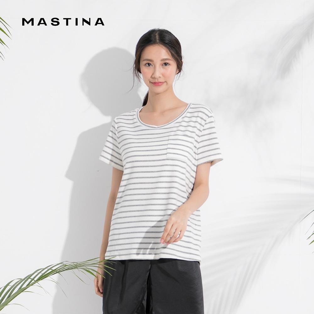 【MASTINA】居家休閒條紋-上衣(二色)