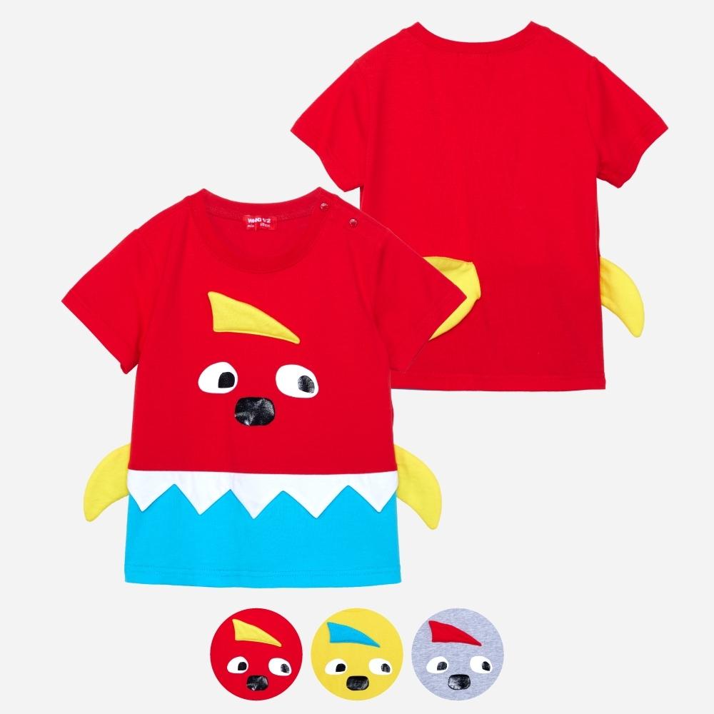 WHY AND 1/2 mini 造型棉質萊卡T恤 多色可選 1Y ~ 4Y (紅色)