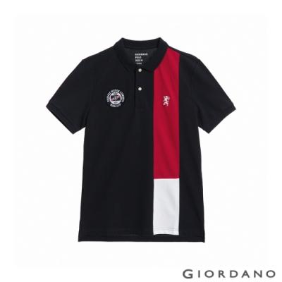 GIORDANO  男裝UNION JACK POLO衫 - 17 標誌海軍藍