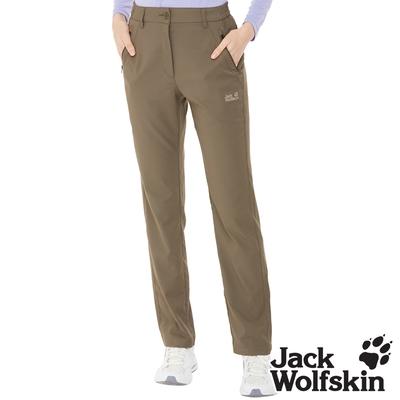 【Jack wolfskin 飛狼】女 涼感透氣排汗休閒長褲『橄綠』