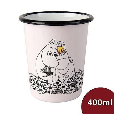 Muurla 嚕嚕米琺瑯水杯 永遠在一起 粉紅 400ml