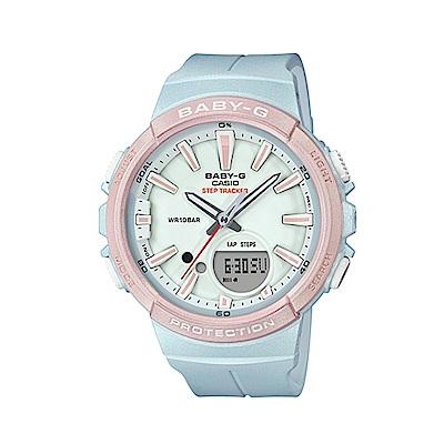 CASIO BABY-G運動熱潮流行腕錶/粉/BGS-100SC-2A