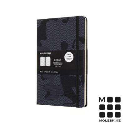 MOLESKINE BLEND18限定版筆記本(L型橫線)-迷彩黑